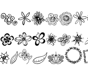 doodle and flower image