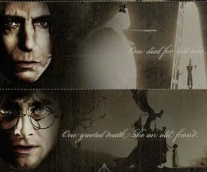 snape, harry, and voldemort image