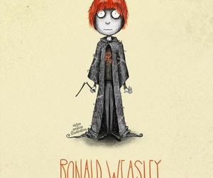 harry potter, ron, and tim burton image