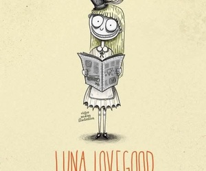 luna lovegood, harry potter, and tim burton image