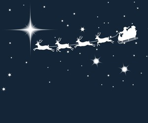 christmas, santa, and stars image