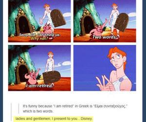 disney, funny, and hercules image