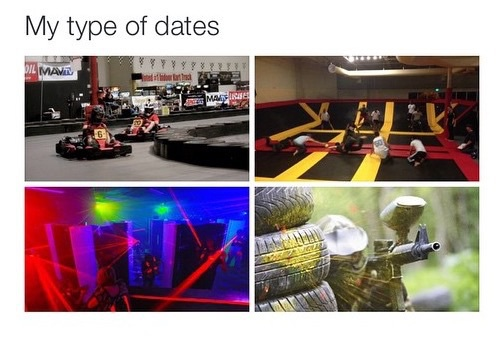 date, laser tag, and paintball image