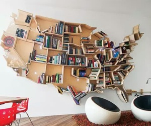 bedroom, books, and decorate image