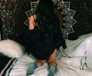 flannel, grunge, and hair image