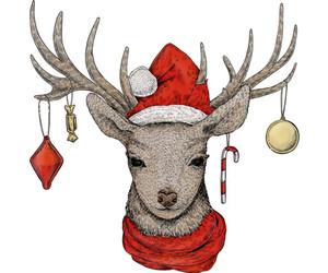 art, christmas, and reindeer image