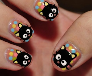 nails, cat, and chococat image