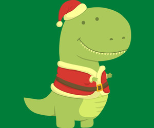 christmas, dinosaur, and santa image