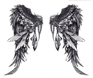 wings, tattoo, and angel image