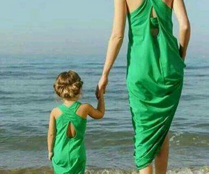 love, beach, and daughter image