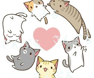 kawaii, cat, and neko image