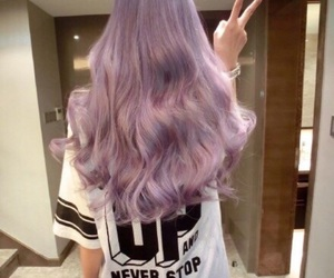 hair, purple, and style image