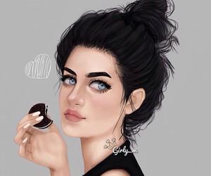 girly_m, oreo, and art image
