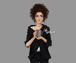 girly_m, coffee, and drawing image