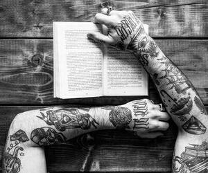 tattoo, book, and tatoo image
