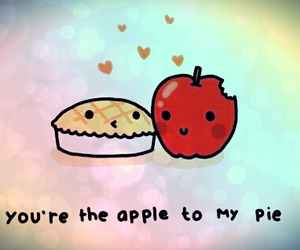 <3, apple, and colors image