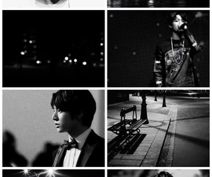 black, Collage, and kpop image
