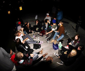 drinking, skaters, and youth image