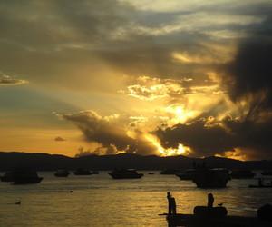 boats, cloud, and lake image