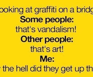 funny, graffiti, and art image