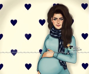 girly_m, pregnant, and drawing image