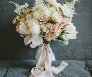 bouquet, white, and flowers image