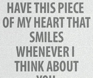 my heart and think about you image