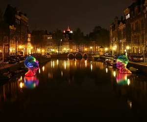 amsterdam, canals, and december image