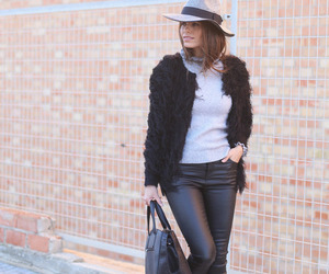 black, hat, and street style image