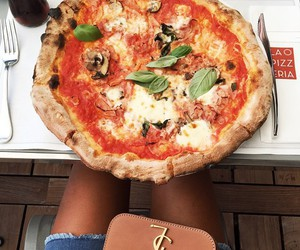 food, pizza, and YSL image
