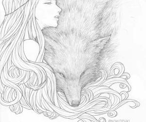 wolf, Chiara Bautista, and art image