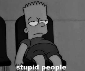 people, stupid, and simpsons image
