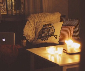 candle, cozy, and room image