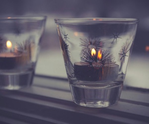candle, winter, and light image