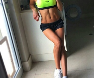 abs, body, and girl image