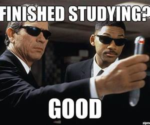 funny, men in black, and studying image