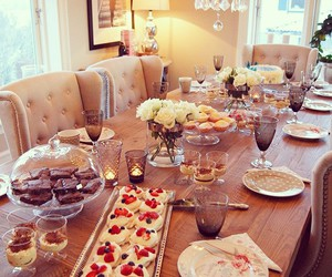 dining room, Dream, and food image