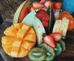 food, healthy, and love image