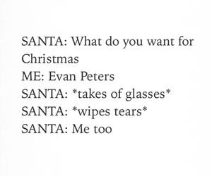 evan peters, santa, and funny image