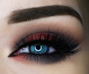 eyebrows, makeup, and cat eye image