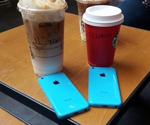 bff, iphone, and starbucks image