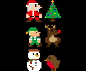 8-bit, art, and christmas image