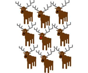 christmas, deer, and reindeer image
