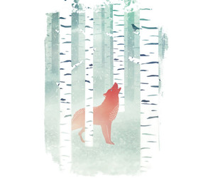 art, forest, and fox image