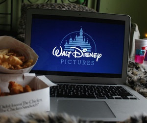 disney, food, and laptop image