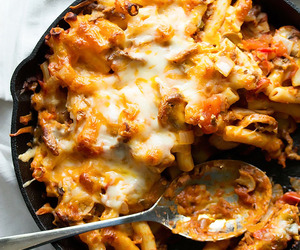 cheesy, food, and pasta image