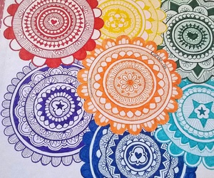 art, circles, and color image