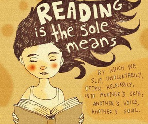 reading, book, and quote image