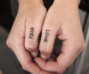 tattoo, love, and fear image