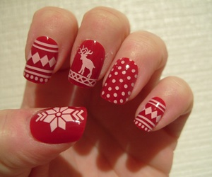 christmas, girl, and manicure image